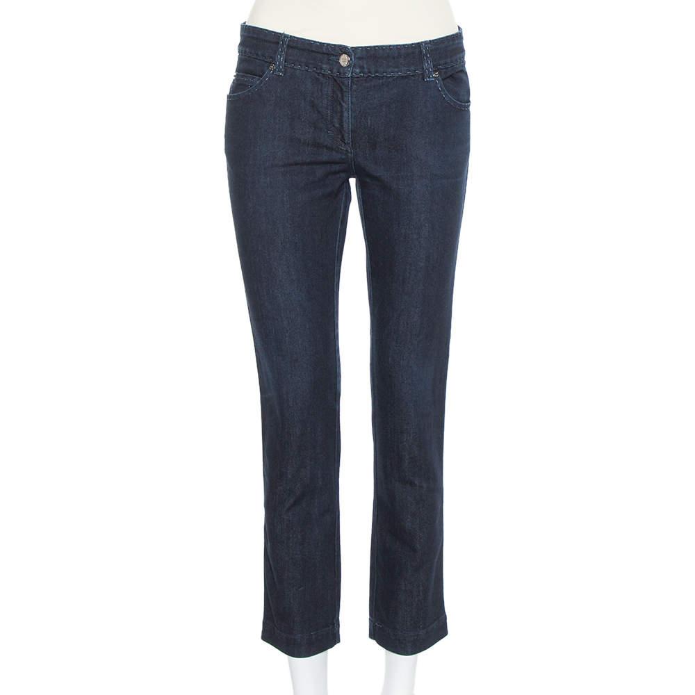 بنطلون جينز فندي سيليريا سري نومراتا مكسم سكيني دنيم كحلي مقاس متوسط