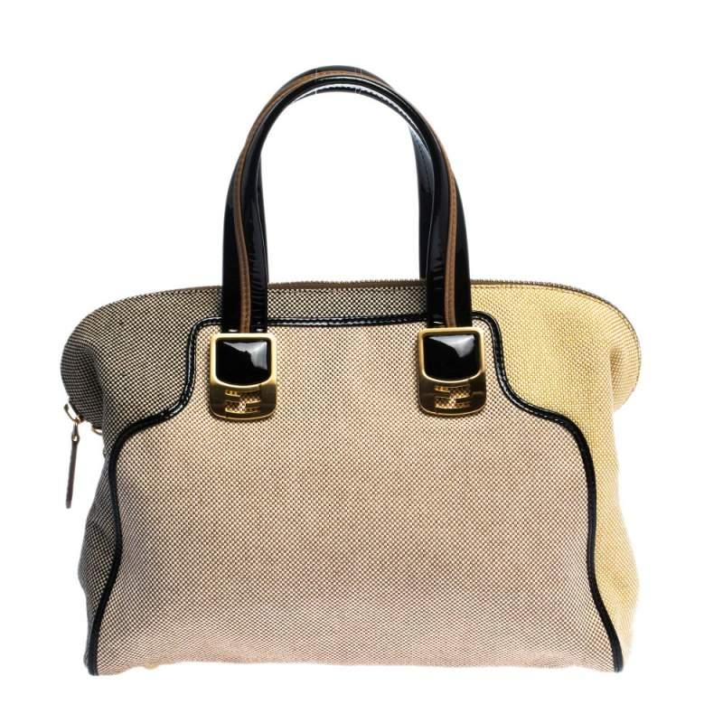 """حقيبة فندي """"كاميليون"""" كانفاس و جلد لامع متعدد الألوان"""