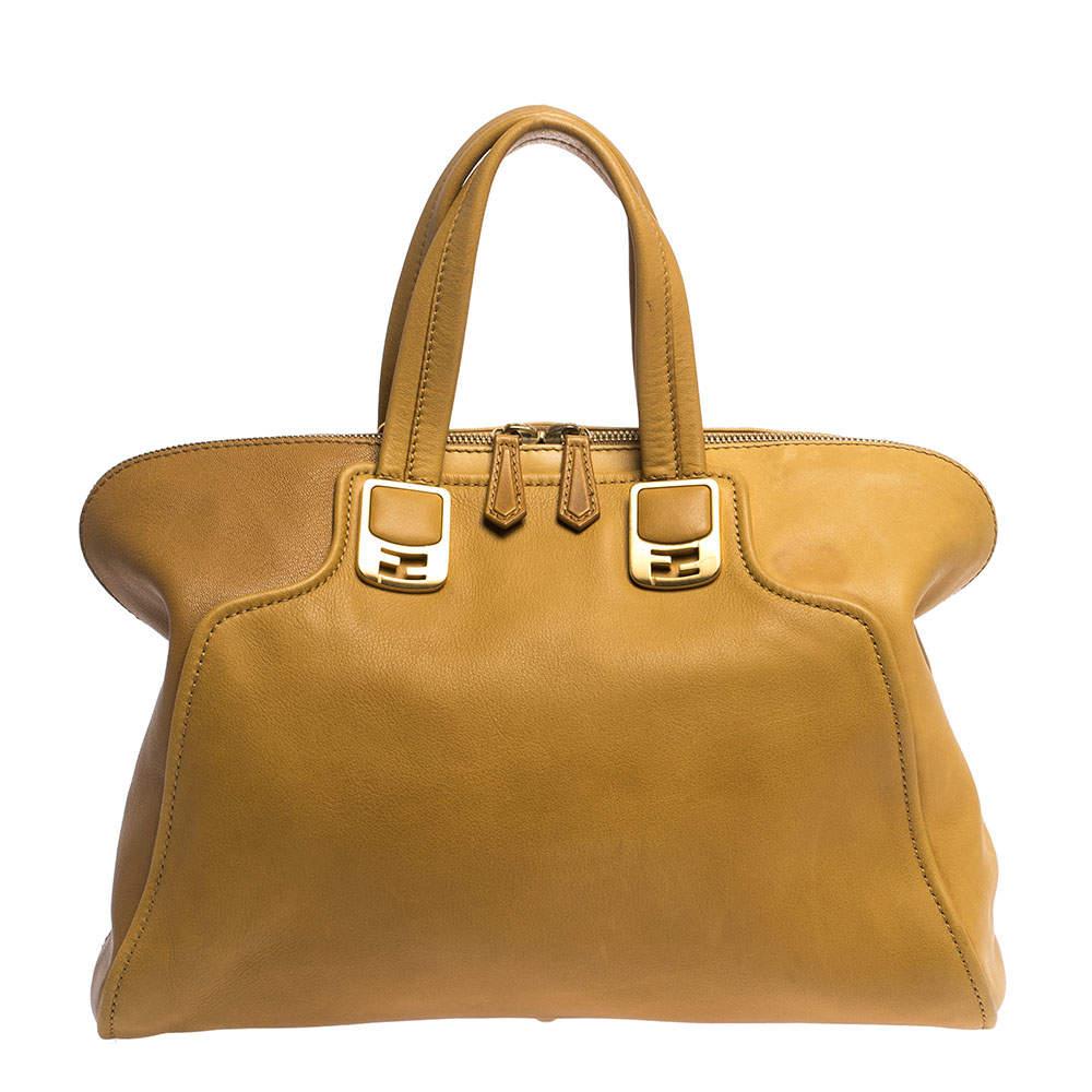 """حقيبة فندي """"كاميليون"""" جلد مُستردة و بني"""