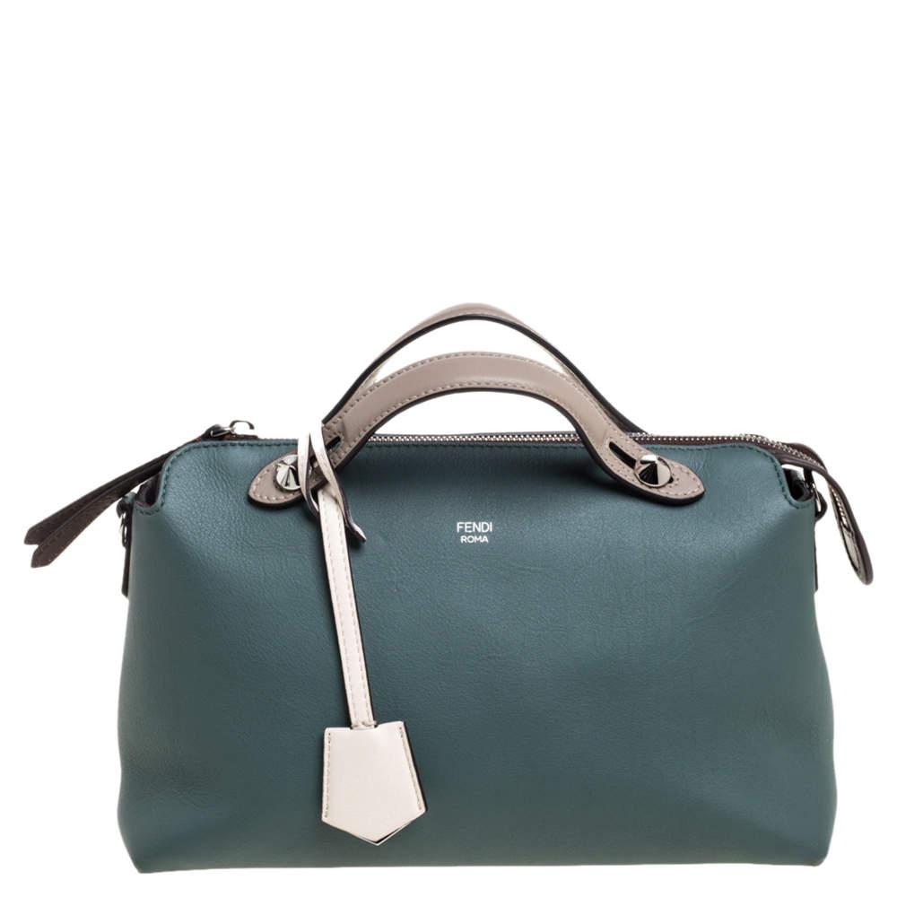 Fendi Tri Color Leather Medium By The Way Boston Bag