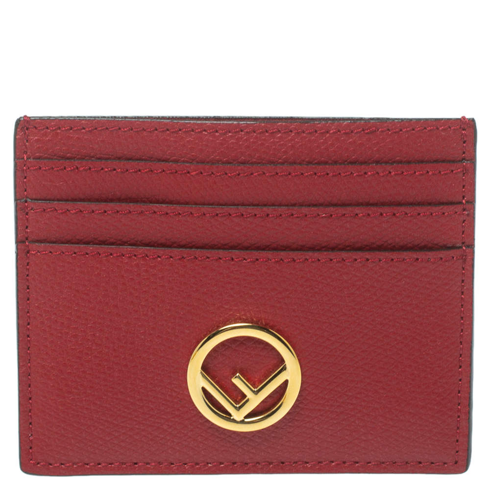 Fendi Red Leather F is Fendi Card Holder