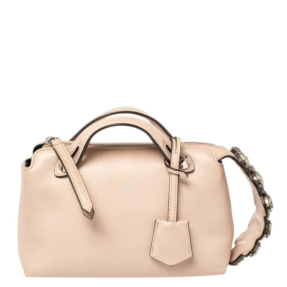 Fendi Beige Leather By The Way Crossbody Bag