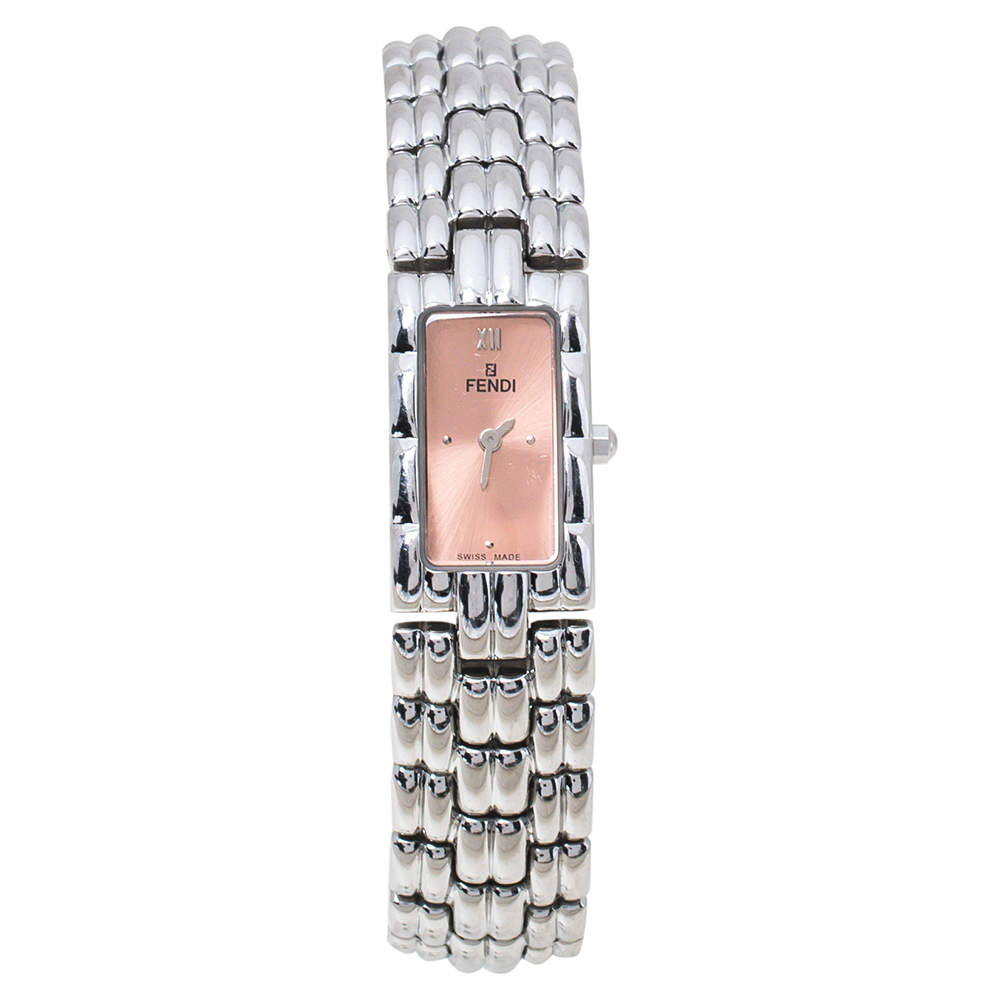 Fendi Salmon Stainless Steel 660L Women's Wristwatch 14 mm