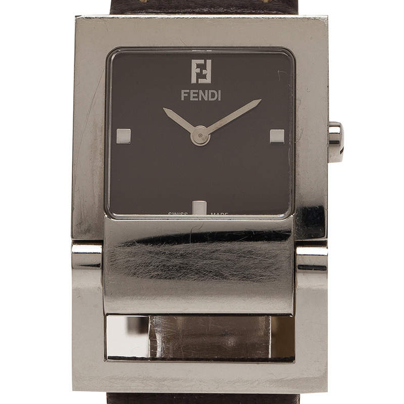 Fendi Brown Stainless Steel Classic Women's Wristwatch 26MM