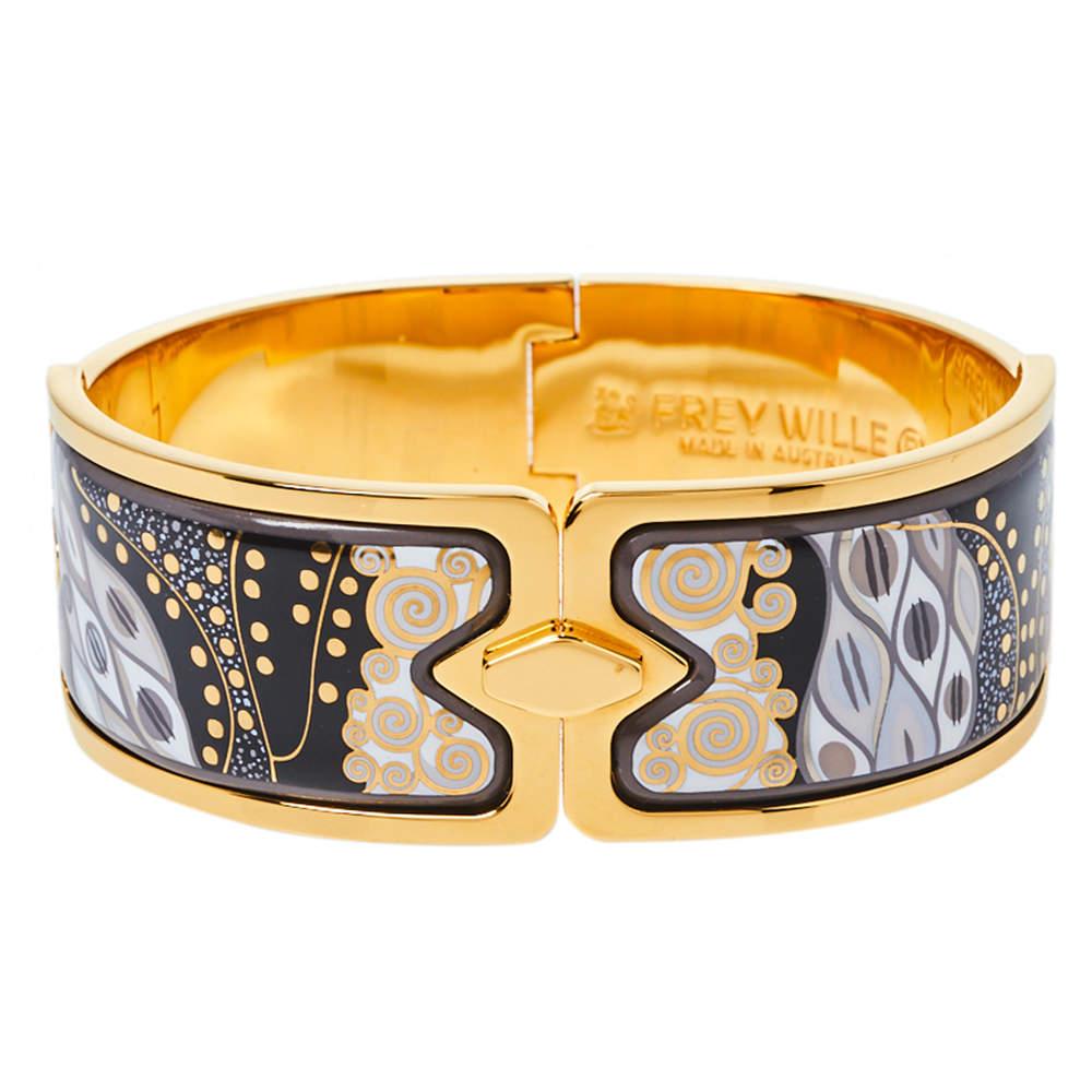 Frey Wille Fire Enamel Gold Plated Clasp Bracelet L