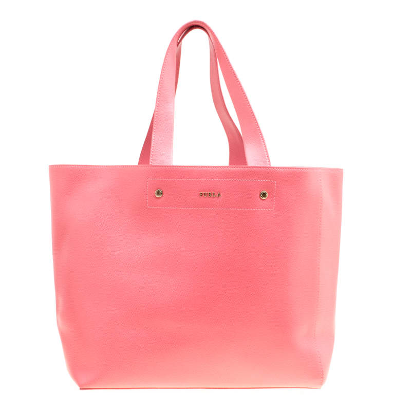 Furla Red Leather Melissa Shopping Tote