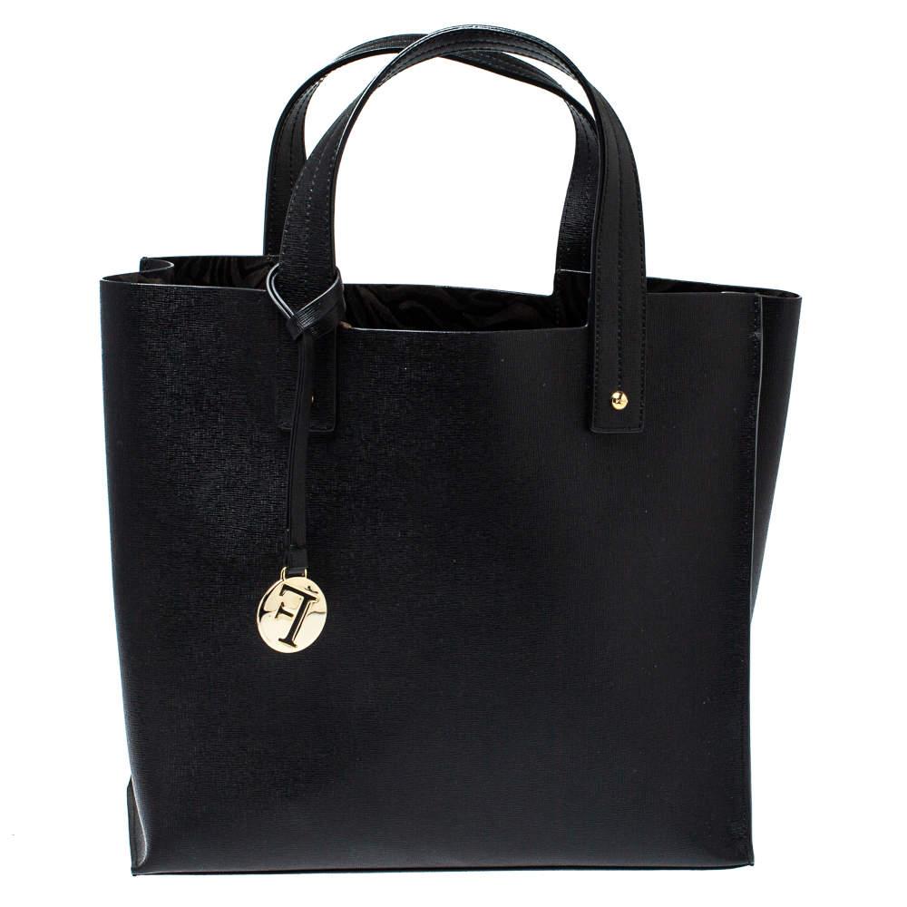 Furla Black Leather Medium Musa Tote
