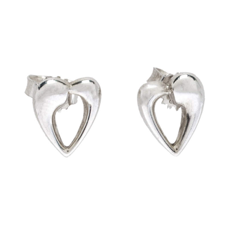 Georg Jensen Heart Silver Stud Earrings
