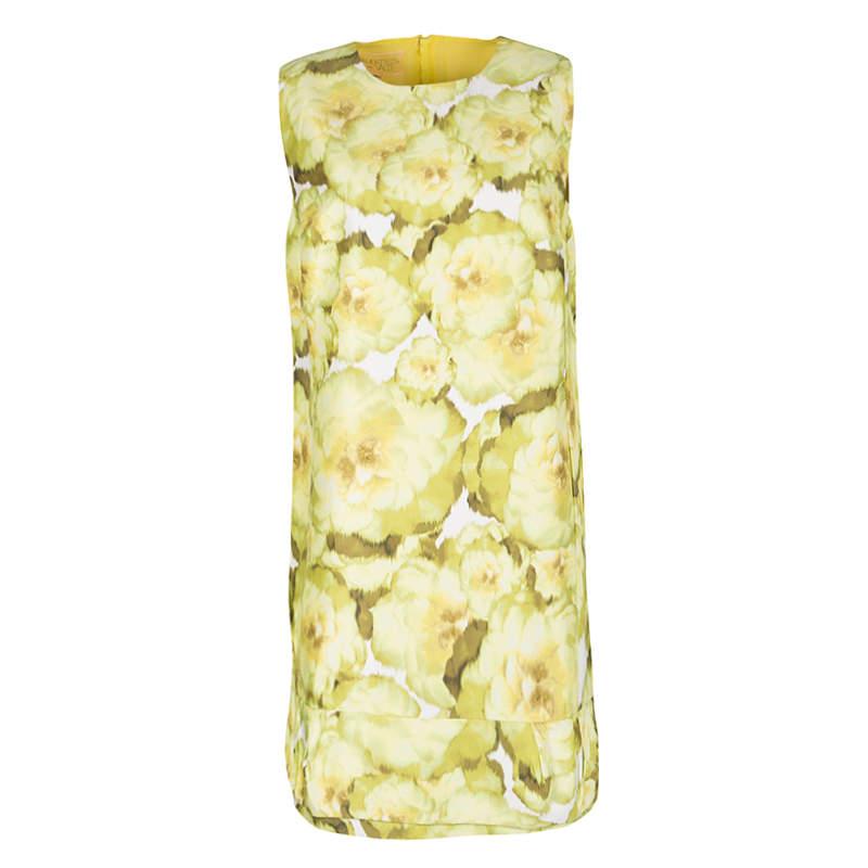 Giambattista Valli Multicolor Floral Print Sleeveless Dress M
