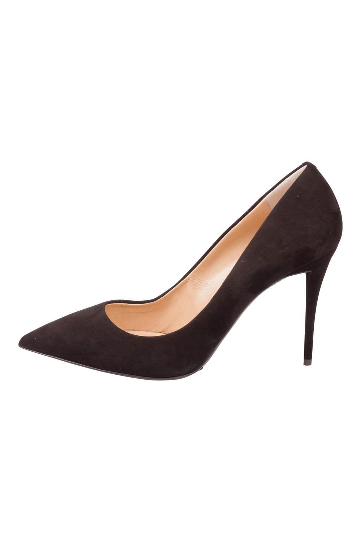 Giuseppe Zanotti Black Suede Pointed Toe Pumps Size 38