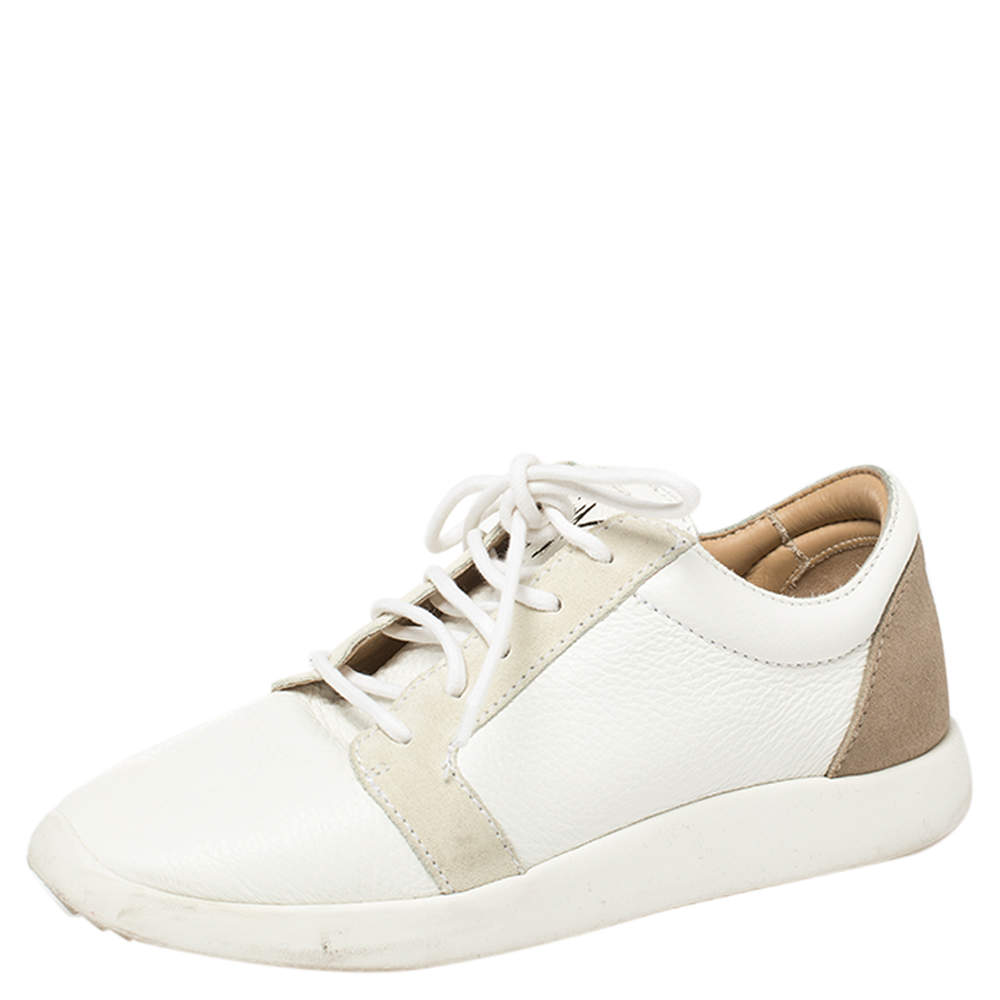 Giuseppe Zanotti Two Tone Leather Low Top Sneakers Size 36