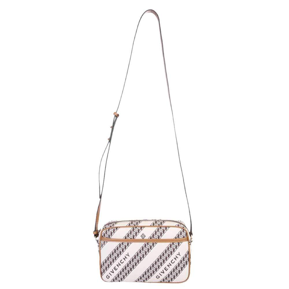 Givenchy Beige/Brown Canvas Chain-print Bag