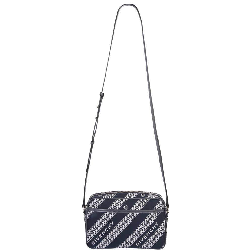 Givenchy Blue/White Canvas Chain-print Bag