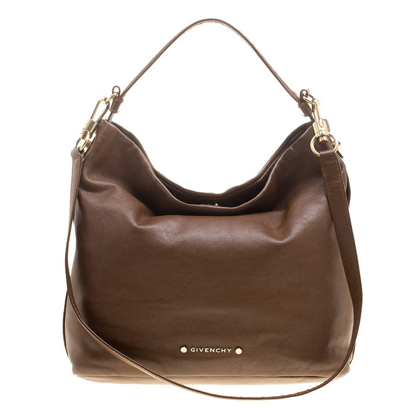 Givenchy Brown Leather Hobo