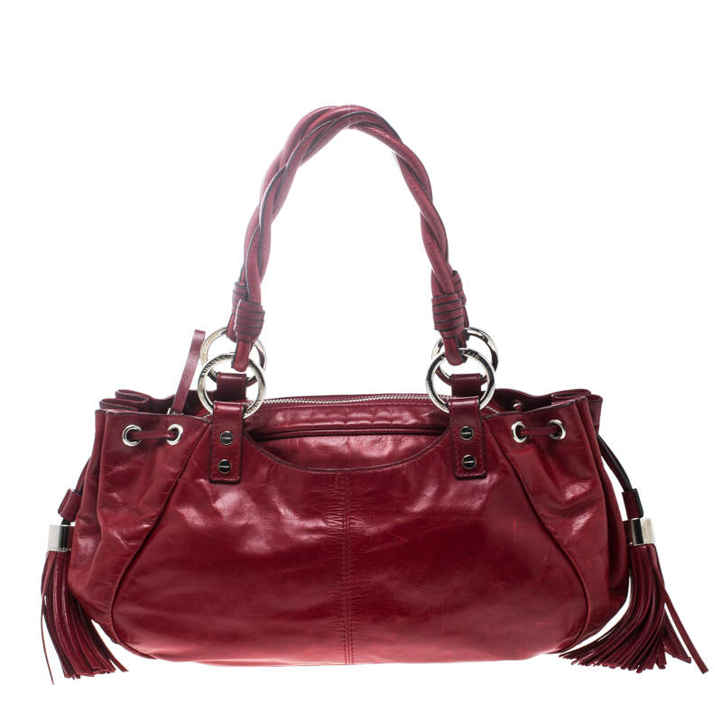 Givenchy Red Leather Drawstring Shoulder Bag
