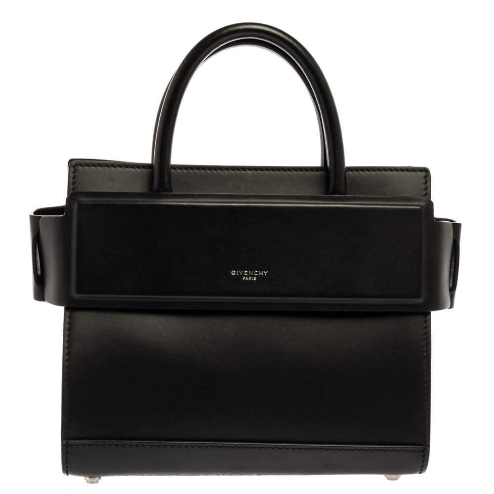 Givenchy Black Leather Mini Horizon Bag