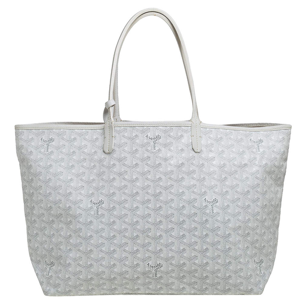 Goyard White Goyardine Coated Canvas St. Louis PM Tote