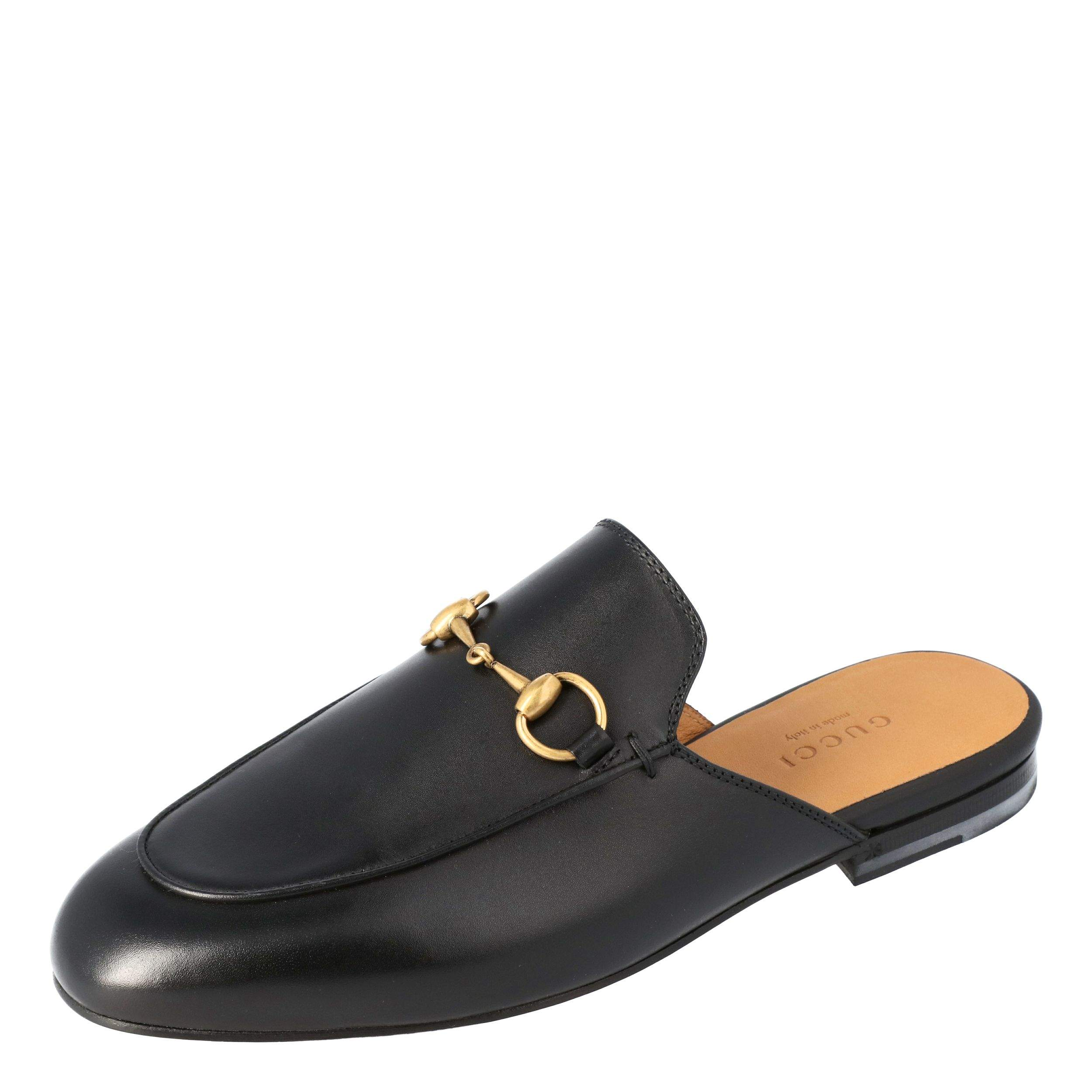 Gucci Black Leather Princetown Horsebit