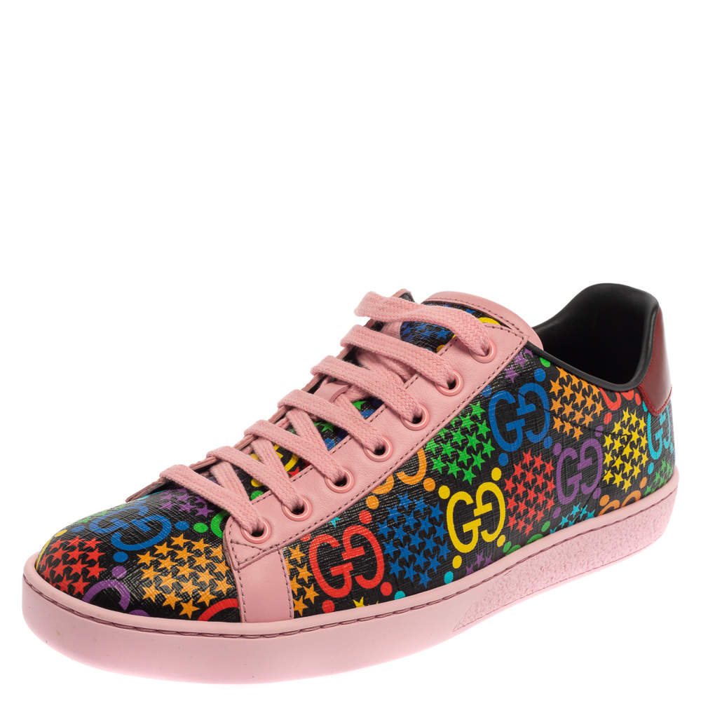 Gucci Multicolor Leather GG Psychedelic Ace Sneakers Size 37.5