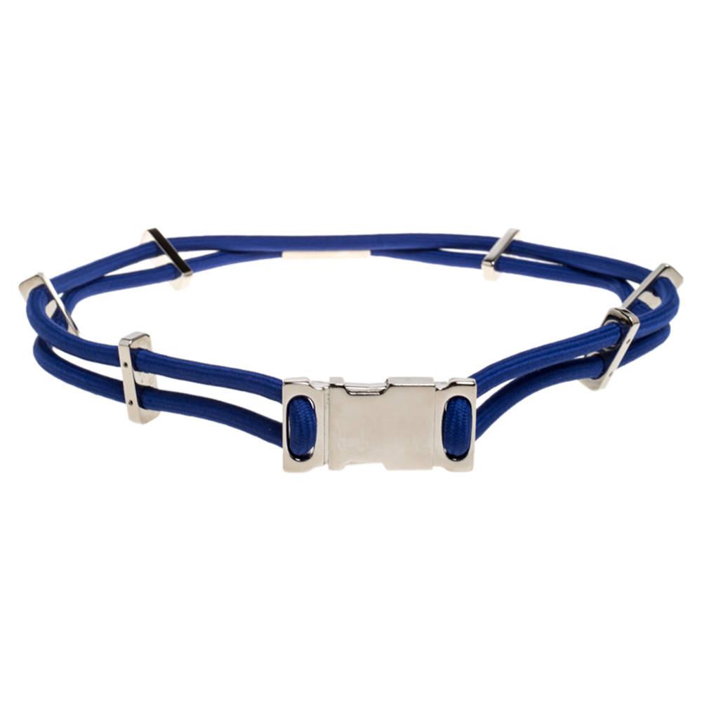 Gucci Blue Stretch Rope Metal Waist Belt 80CM