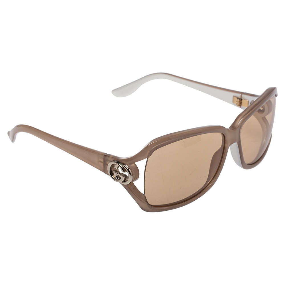 Gucci Pale Brown/ Brown GG 2995/S Rectangle Sunglasses