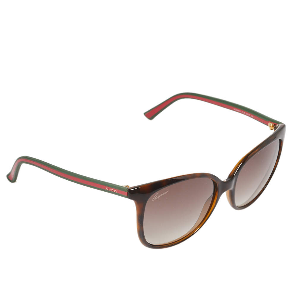 Gucci Havana/Brown Gradient Web GG3649 Wayfarer Sunglasses