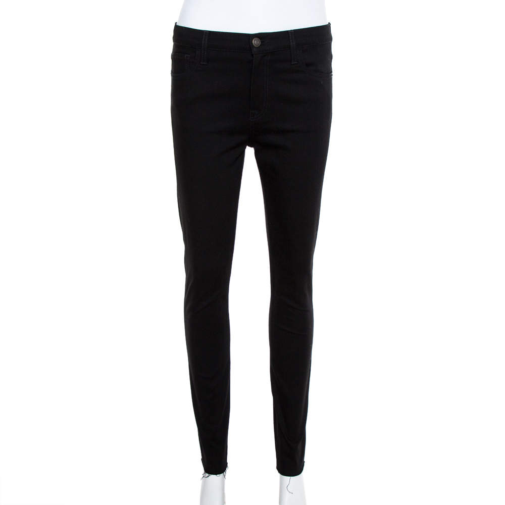 بنطلون جينز سكيني دينم أسود بانثير أبليك مزينة مقاس متوسط - ميديوم