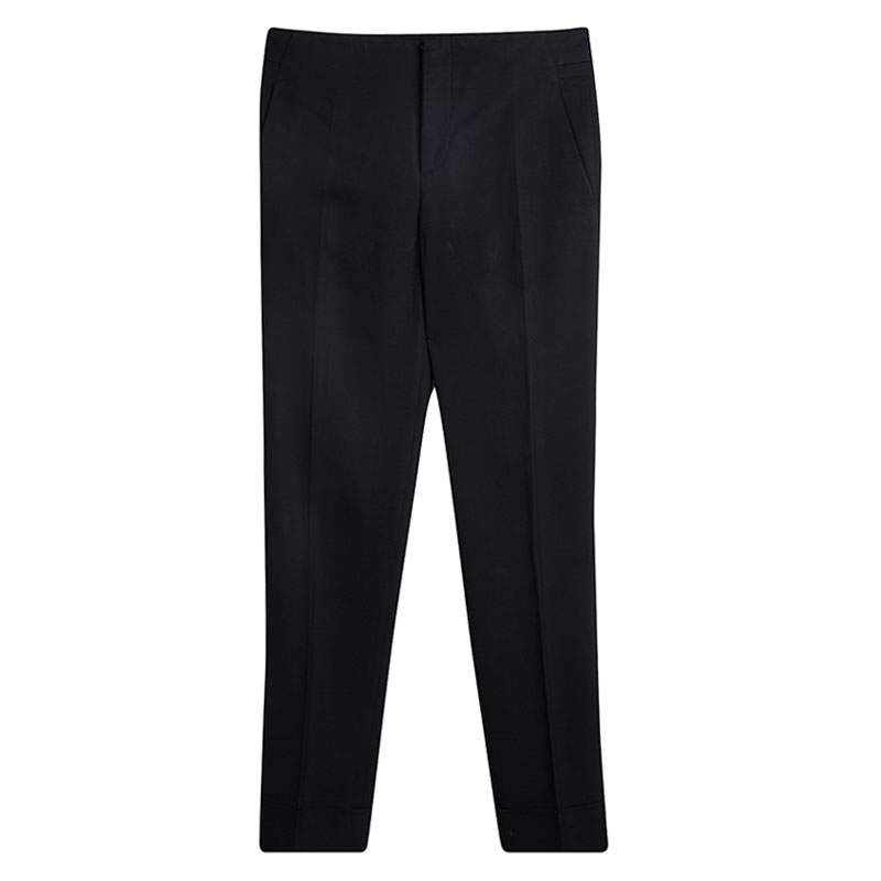 Gucci Black Tailored Straight Fit Trousers S