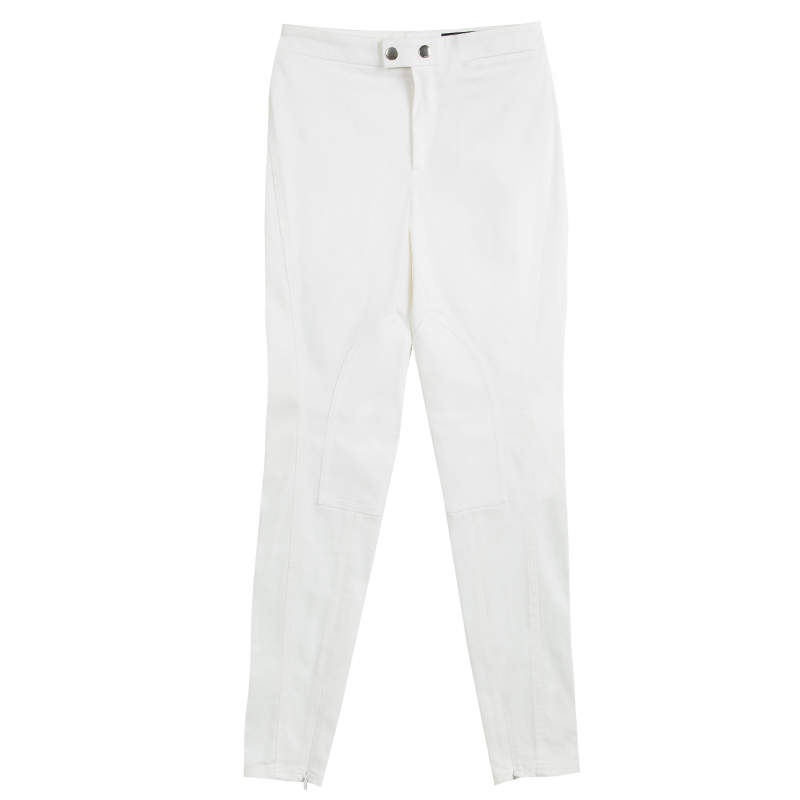 Gucci Cream High Waist Slim Fit Pants S