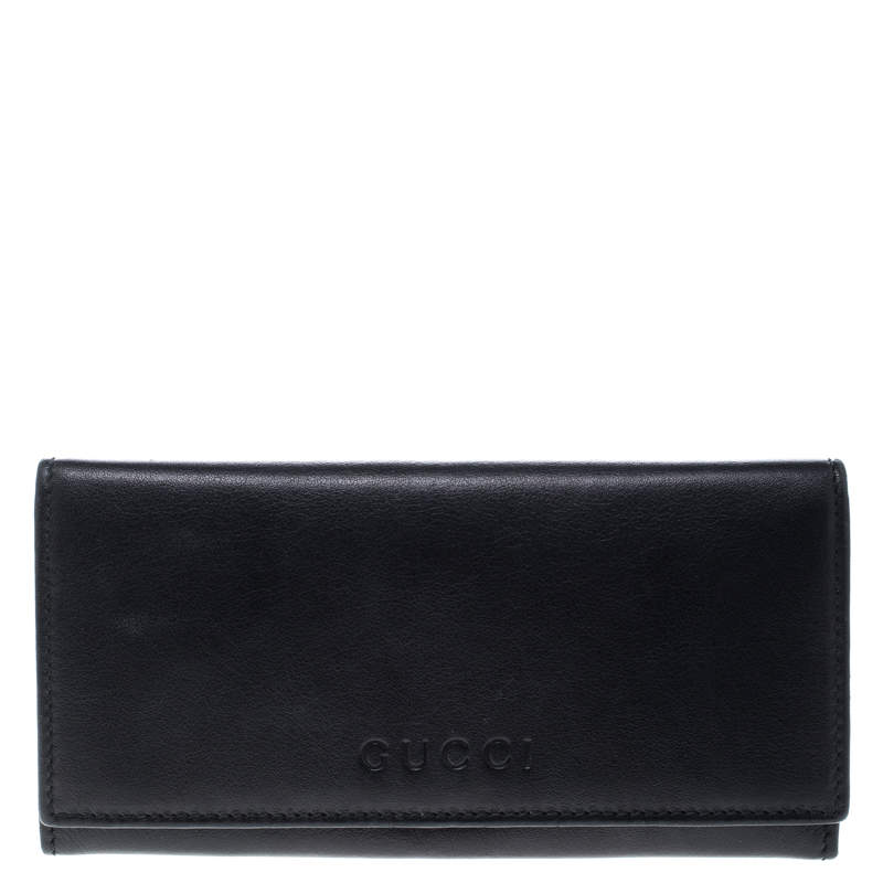 Gucci Black Leather Continental Wallet
