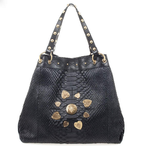 Gucci Limited Edition Large Jockey Python Hobo Bag