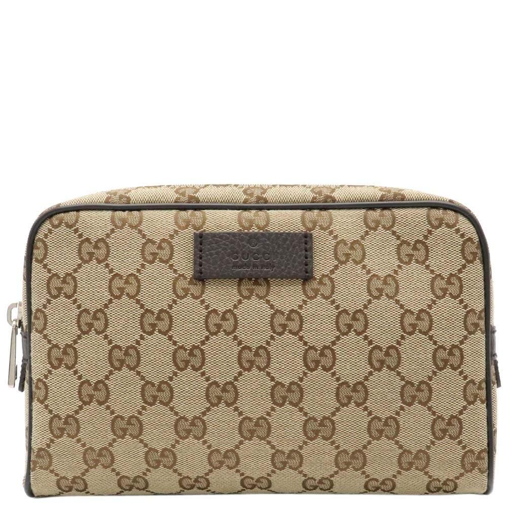 Gucci Beige GG Canvas Waist Belt Bag