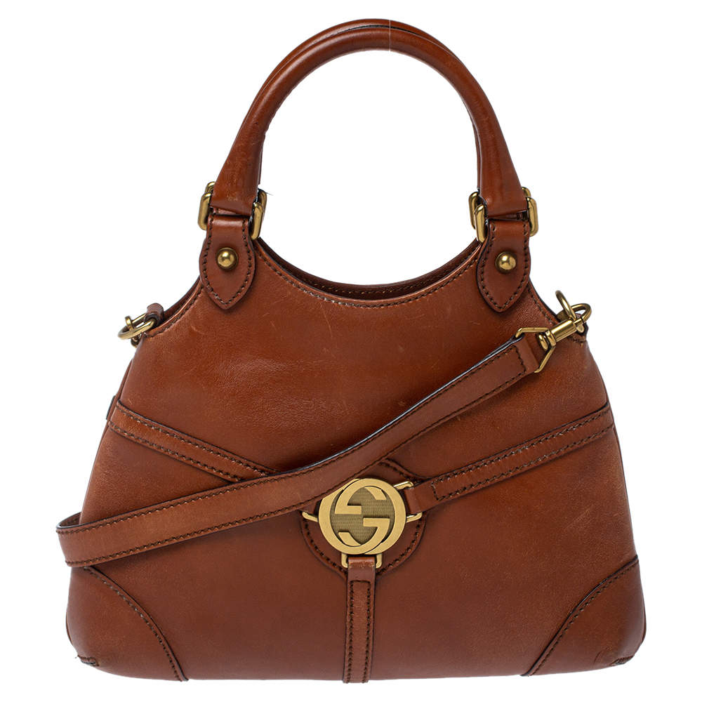 Gucci Brown Leather Reins Hobo