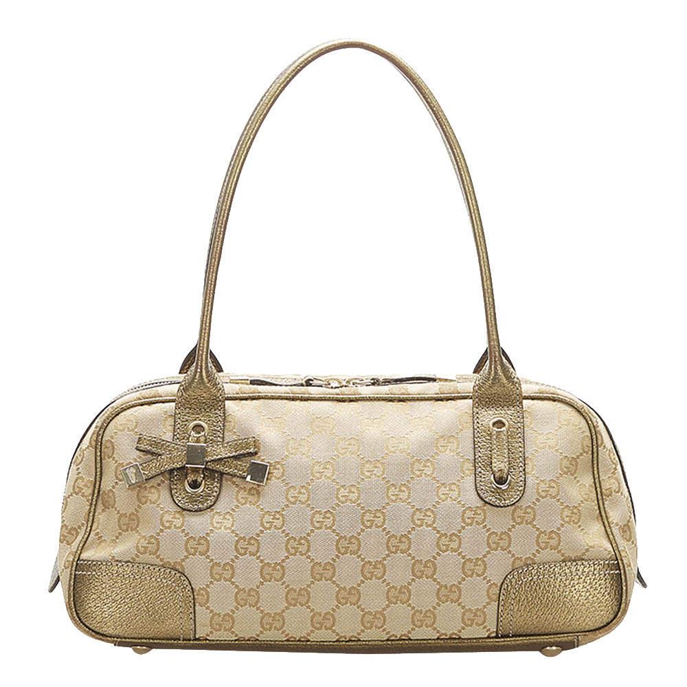 Gucci  Brown/Tan GG Canvas Princy Shoulder Bag