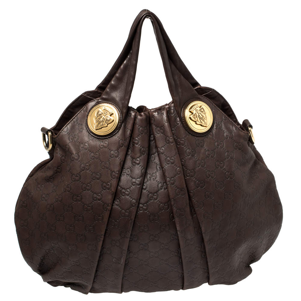Gucci Brown Guccissima Leather Large Hysteria Hobo