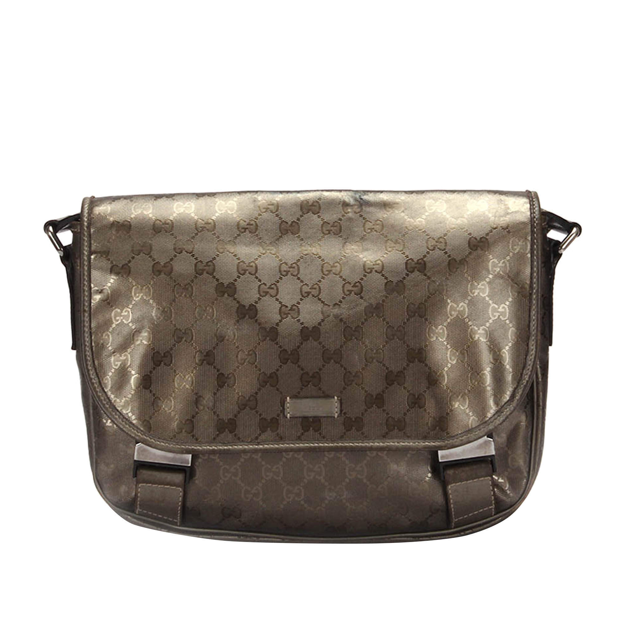 Gucci Brown GG Imprime Canvas Crossbody Bag