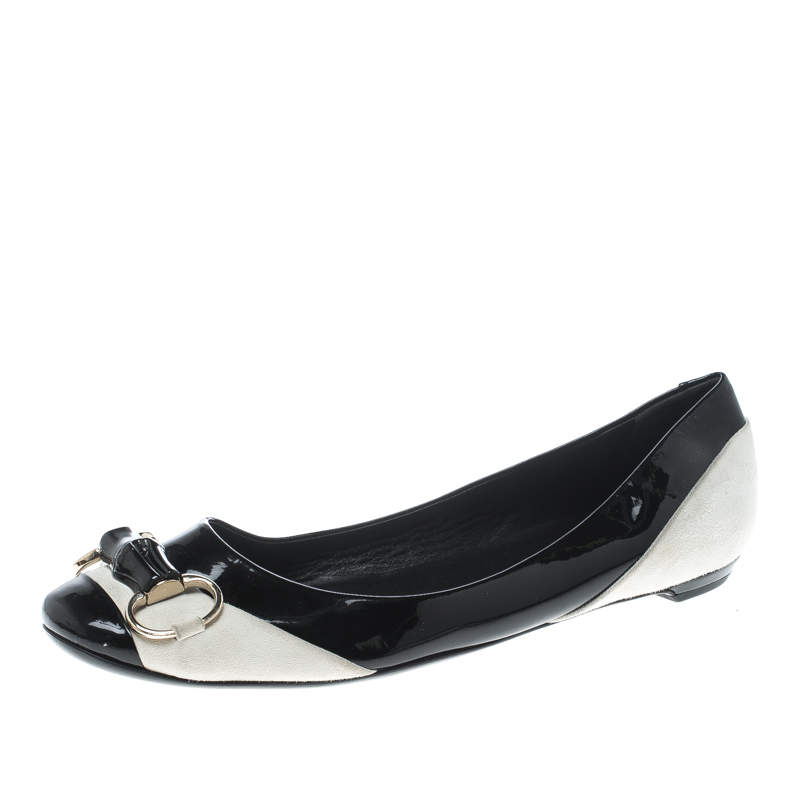 Gucci Black/White Patent Leather and