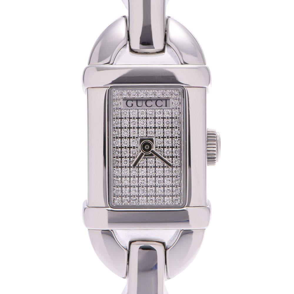 Gucci Diamonds Stainless Steel Bamboo 6800L Quartz Women's Wristwatch 26 MM
