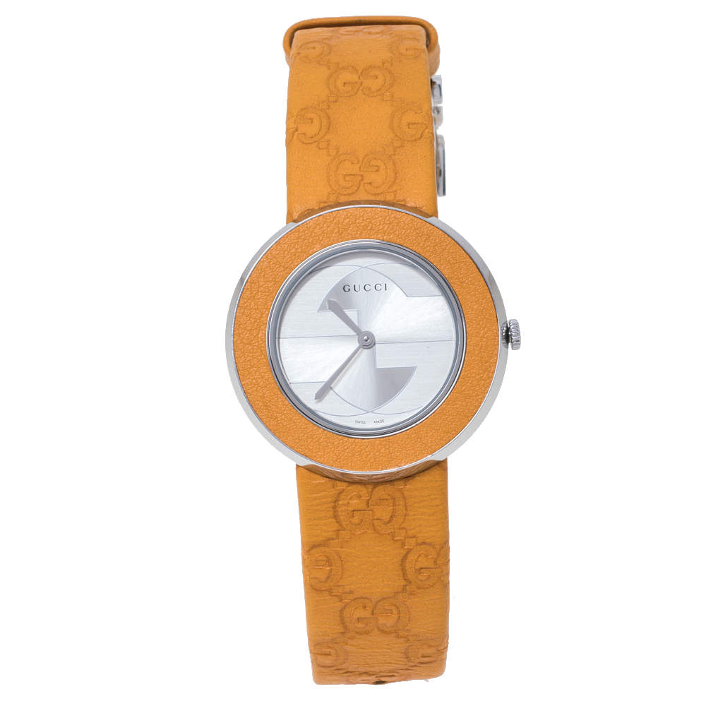 Gucci Silver Stainless Steel U-Play 129.4 Women's Wristwatch 35 mm