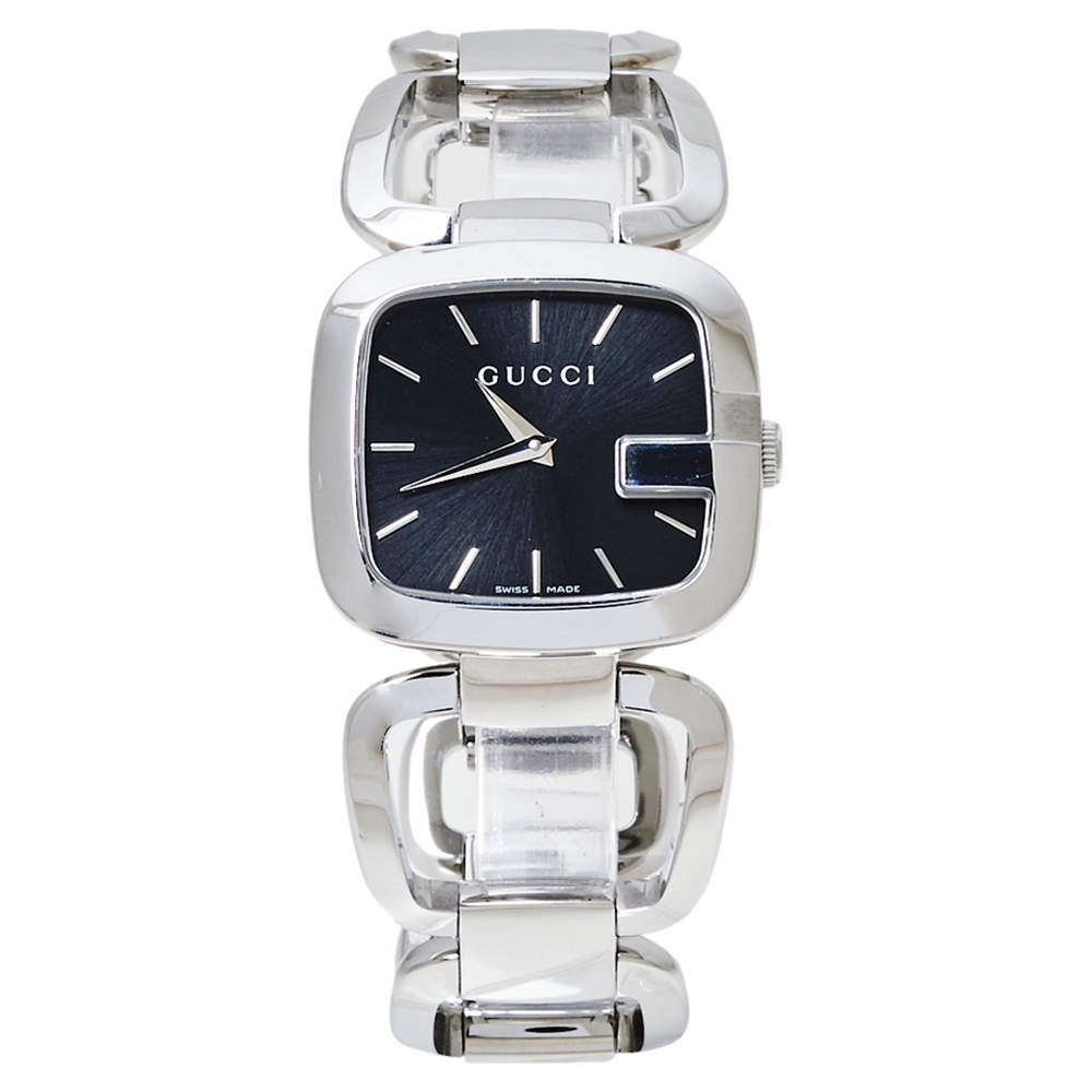 Gucci Black Stainless Steel G-Gucci 125.4 Women's Wristwatch 32 MM