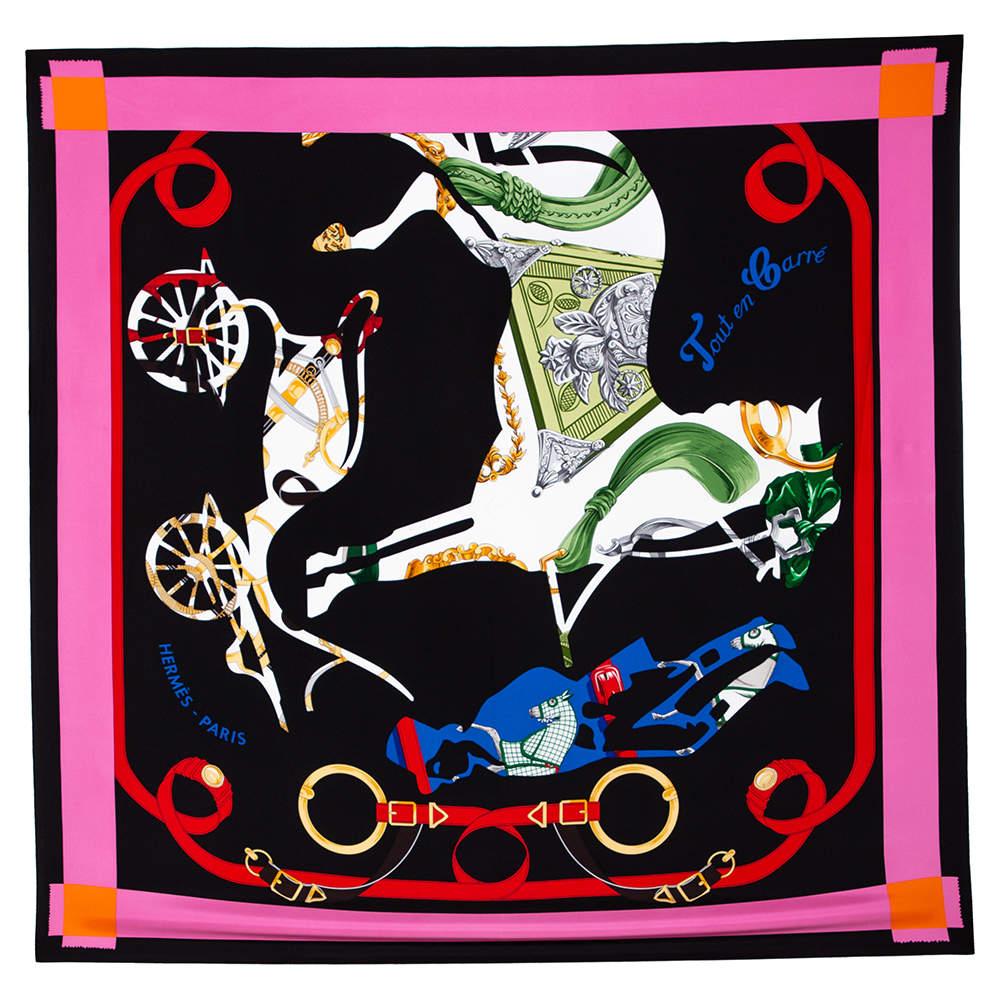 Hermes Multicolor Tout en Carre Silk Square Scarf