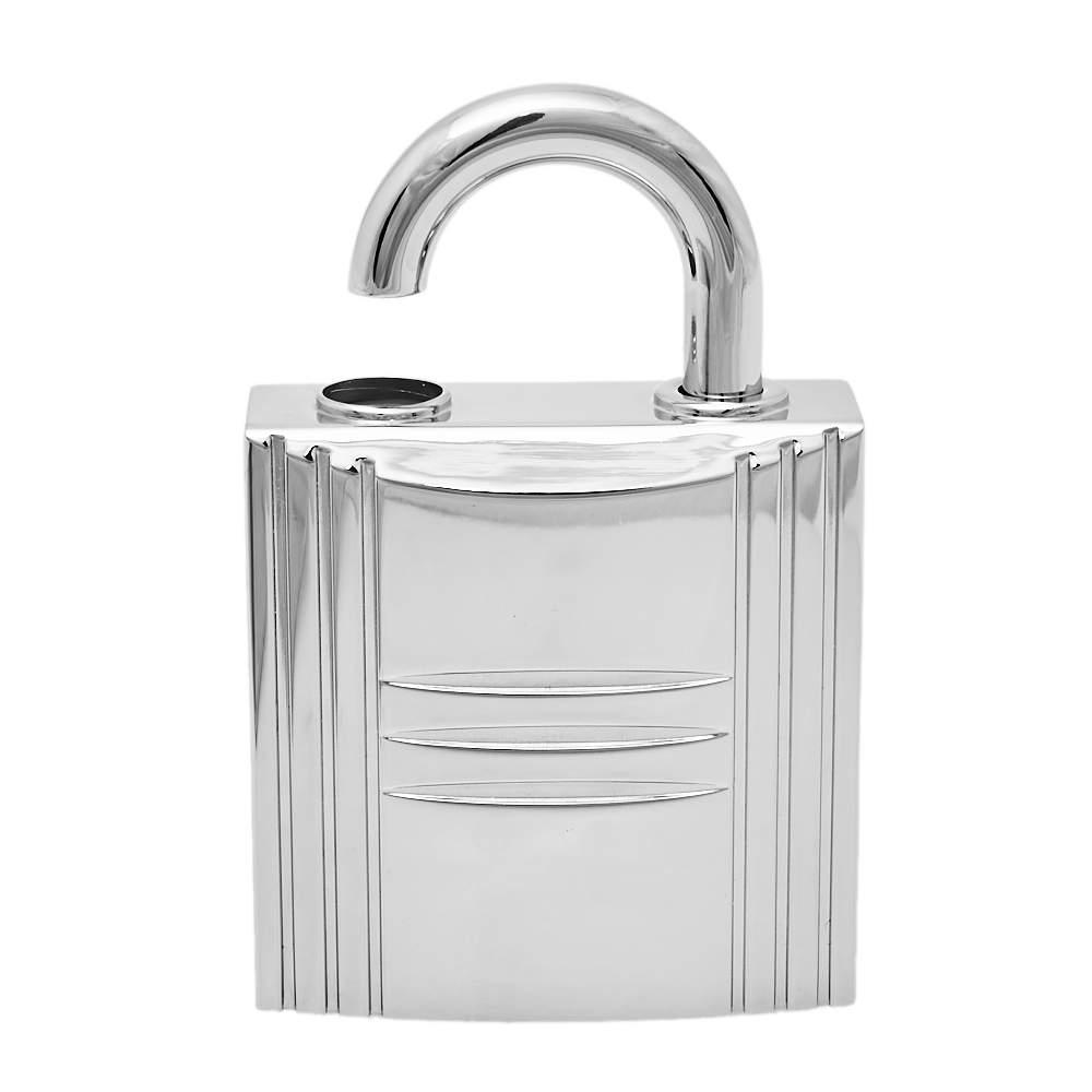 Hermès Silver Tone Jour d'Hermes Lock Perfume Holder