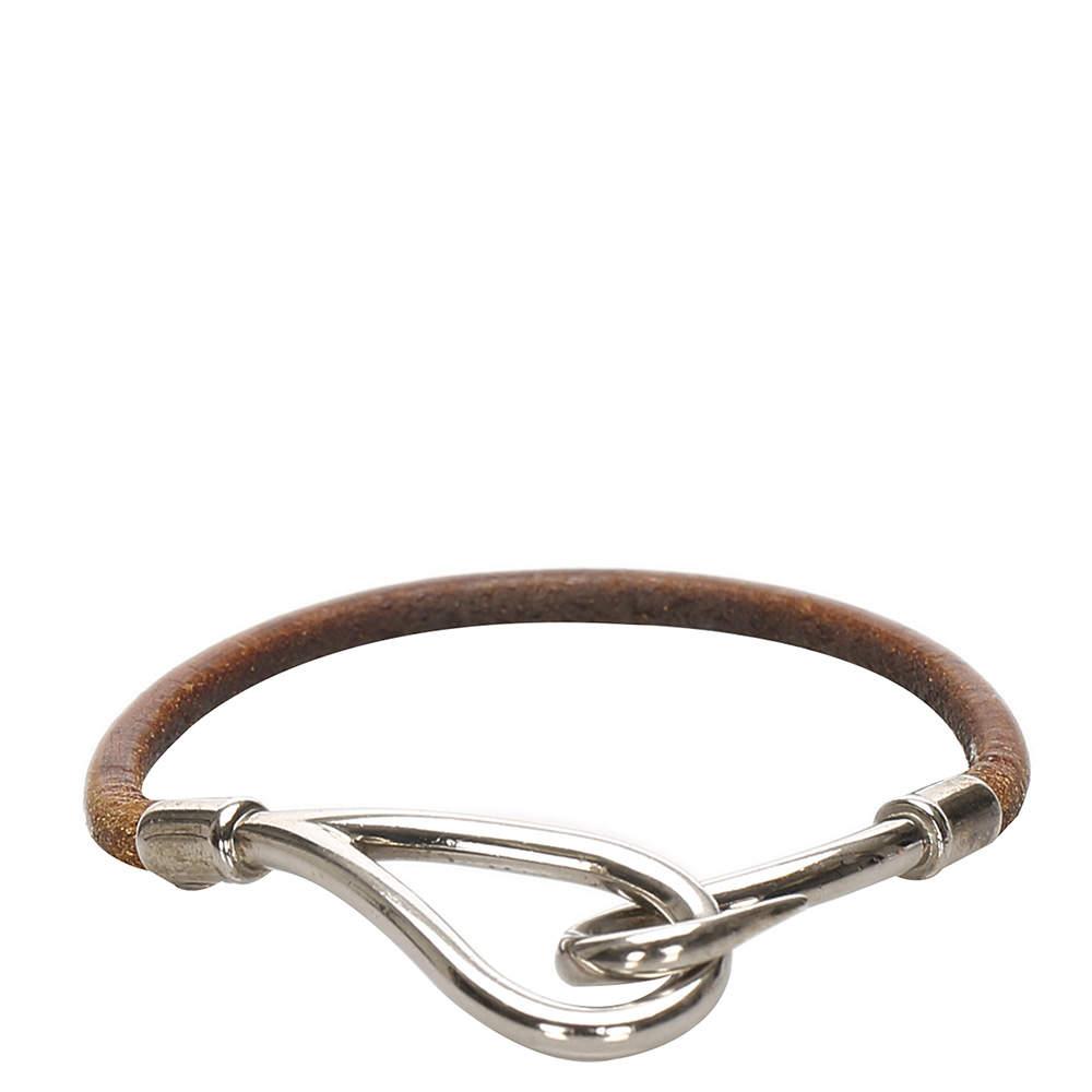 Hermes Leather/Metal Jumbo Hook Double Tour Bracelet