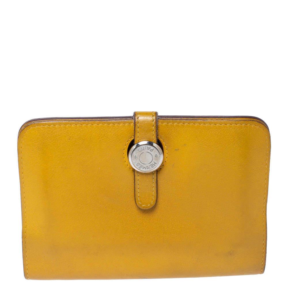 Hermes Soleil Swift Leather Dogon Wallet