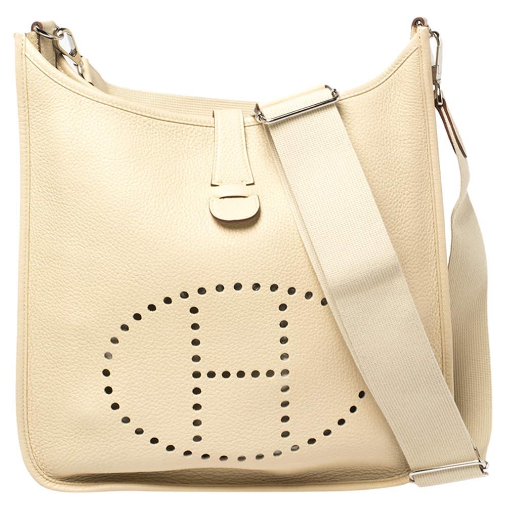Hermes Parchemin Togo Leather Evelyne III GM Bag