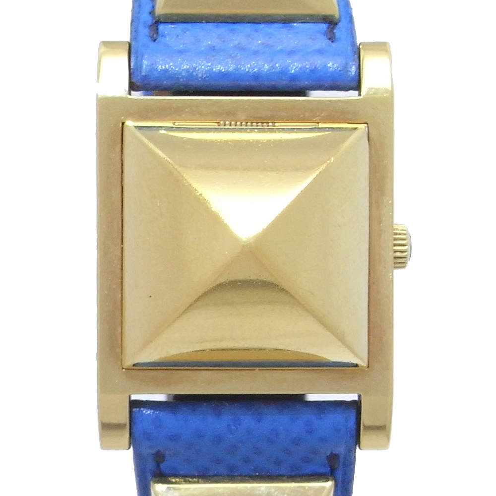 Hermes White Gold Plated Staineless Steel Medor ME1.201 Women's Wristwatch 23 MM