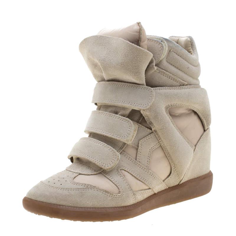 Leather Bekett Wedge Sneakers Size 38