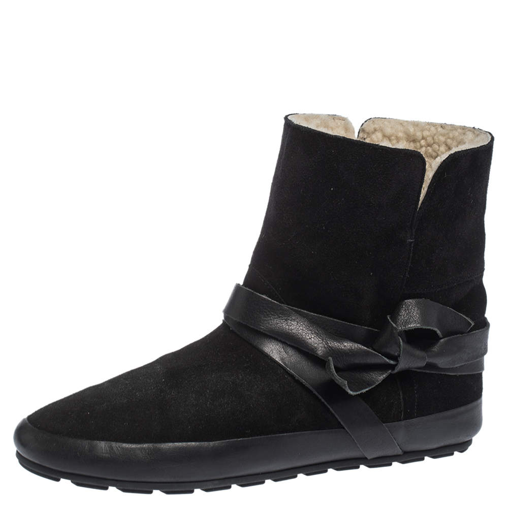 Isabel Marant Etoile Black Suede And Leather Nygel Ankle Boots Size 41