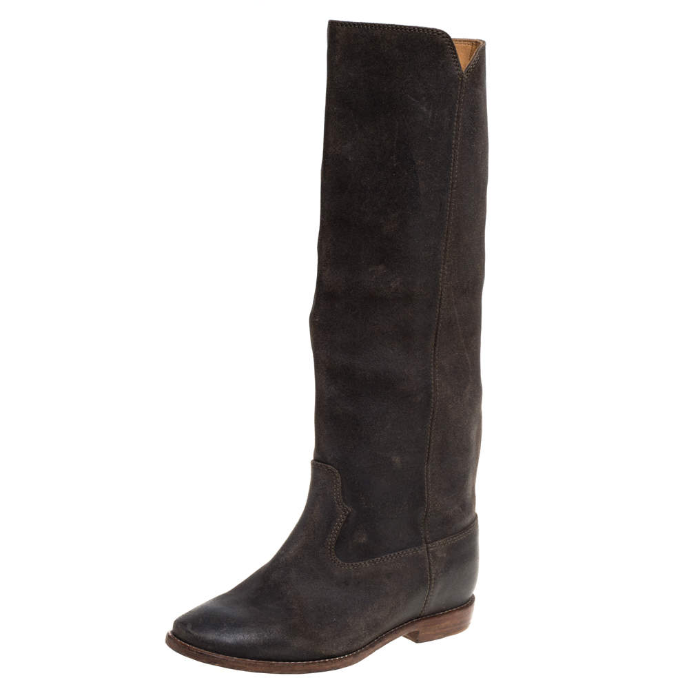 Isabel Marant Brown Suede Knee Length Boots Size 39