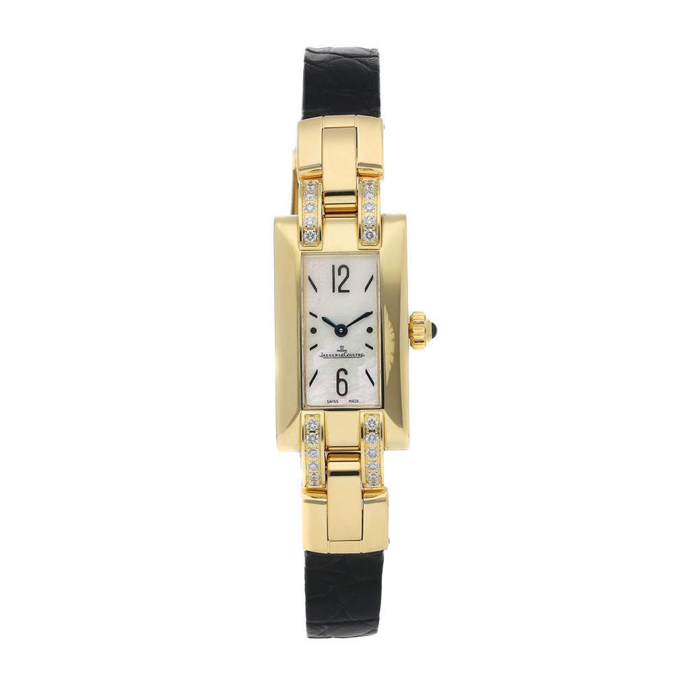 Jaeger LeCoultre MOP Diamonds 18K Yellow Gold Ideale Q4601583 Women's Wristwatch 39 x 17 MM